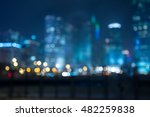 abstract bokeh night garden in... | Shutterstock . vector #482259838