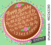 gradient free vector cake... | Shutterstock .eps vector #482262280