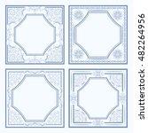 set frames with openwork motif. ... | Shutterstock .eps vector #482264956