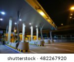 Blurred Highway Toll  Payment...