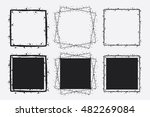hand drawn vector square frames ... | Shutterstock .eps vector #482269084