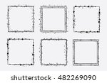 hand drawn vector square frames ... | Shutterstock .eps vector #482269090