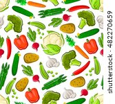 seamless healthy vegetables... | Shutterstock .eps vector #482270659