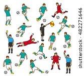 football players | Shutterstock .eps vector #482271646