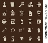 barista color icon on brown... | Shutterstock .eps vector #482271730