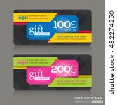 vector gift voucher template...