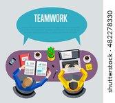 business team and teamwork...   Shutterstock .eps vector #482278330