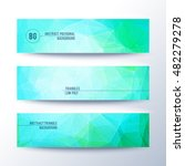 set of horizontal abstract low... | Shutterstock .eps vector #482279278
