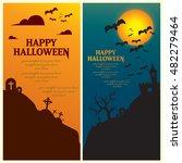 happy halloween greeting vector ... | Shutterstock .eps vector #482279464