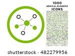 virtual links rounded vector... | Shutterstock .eps vector #482279956
