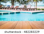 image of wooden table in front... | Shutterstock . vector #482283229