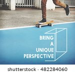 thinking out of the box concept | Shutterstock . vector #482284060
