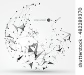 abstract graphic consisting of... | Shutterstock .eps vector #482289370