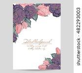 vintage delicate invitation... | Shutterstock .eps vector #482293003