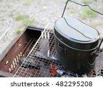cooking utensils of camp | Shutterstock . vector #482295208