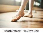 young ballerina dance training... | Shutterstock . vector #482295220