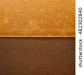 Stitched Brown Leather...