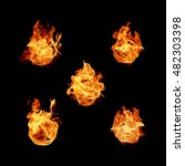 fire flames collection isolated ... | Shutterstock . vector #482303398