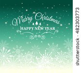e card for happy new year and... | Shutterstock .eps vector #482303773