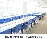 clean school cafeteria with...   Shutterstock . vector #482305948