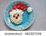 Santa Pancake With Strawberry...