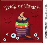 halloween posters set party... | Shutterstock .eps vector #482313346