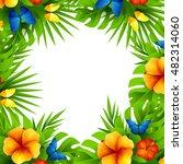 summer tropical hawaiian... | Shutterstock .eps vector #482314060