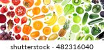 fruits and vegetables. fresh... | Shutterstock . vector #482316040