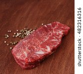 fresh raw beef meat steak with... | Shutterstock . vector #482316316