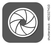 the diaphragm icon. aperture... | Shutterstock . vector #482327410