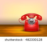 Red Telephone Concept With...