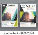 concept annual report brochure ... | Shutterstock .eps vector #482331244