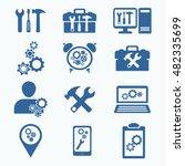 tools icon set .silhouette....