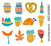 oktoberfest design elements set.... | Shutterstock .eps vector #482340880