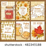 set of bright and cozy autumn... | Shutterstock .eps vector #482345188