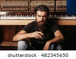 Handsome Bearded Man With...