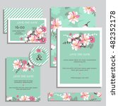 vintage wedding invitation set... | Shutterstock .eps vector #482352178