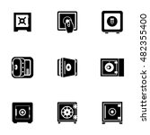safe  vector icons. simple...
