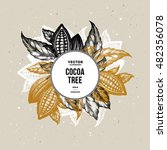 cocoa bean tree design template.... | Shutterstock .eps vector #482356078