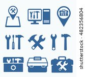 tools icon set . support...