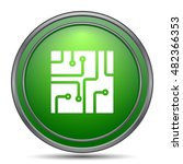 circuit board icon. internet... | Shutterstock . vector #482366353