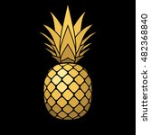 pineapple gold icon. tropical... | Shutterstock .eps vector #482368840