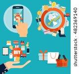 online shopping. business...   Shutterstock .eps vector #482369140