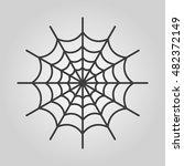 the spiderweb icon. web symbol. ...   Shutterstock . vector #482372149