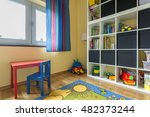 new style cozy child room with... | Shutterstock . vector #482373244