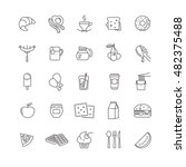 breakfast icons  stock vector... | Shutterstock .eps vector #482375488
