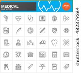 medicine and health line icons...   Shutterstock .eps vector #482379364