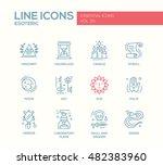 esoteric   set of modern vector ... | Shutterstock .eps vector #482383960