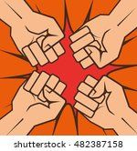 boxing championship punch... | Shutterstock .eps vector #482387158