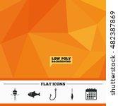 triangular low poly orange... | Shutterstock .eps vector #482387869